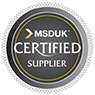 badge to show this company is a MSDUK Certified Supplier